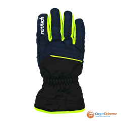 Перчатки горнолыжные REUSCH 2020-21 Alan Black/Dress Blue/Neon Green 5.5""
